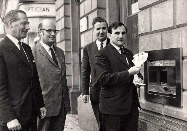 The Northern Echo: WILL IT CATCH ON: This must be one of the first ATMs to be installed in Darlington. It is dated November 28, 1969, and the cunning device is located in the High Row branch of the National Provincial Bank – now NatWest. The first ATM – which stands for