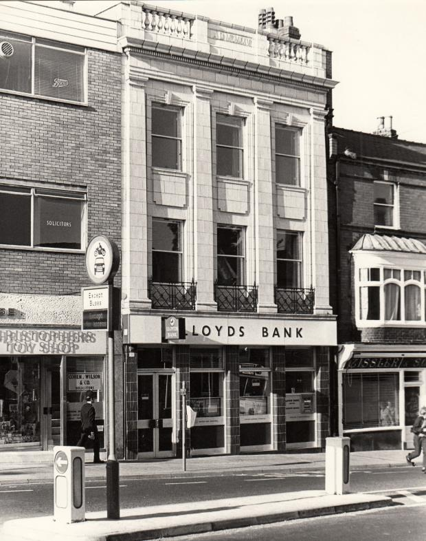 The Northern Echo: TOP TWENTIES: This Lloyds Bank on Bondgate is dated 1925 in Roman numerals at the top, although we reckon it was completed in 1926 and the first occupant was a confectioner and tobacconist. On the right is the butchers which belonged to Zisslers for 128 y