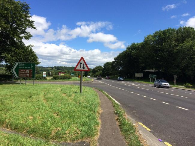 DANGEROUS: The Welburn junction on the A64, an area where four pedestrians have been killed in recent months attempting to cross the road