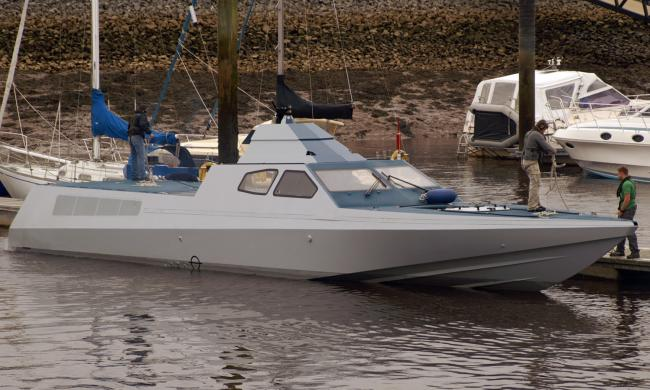 Secret special forces boat undergoing NE trials