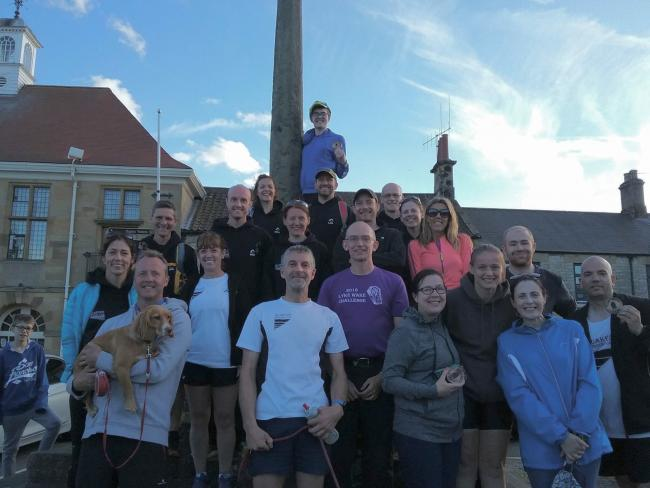 Quakers in Helmsley at the end of this year's Cleveland Way Relay