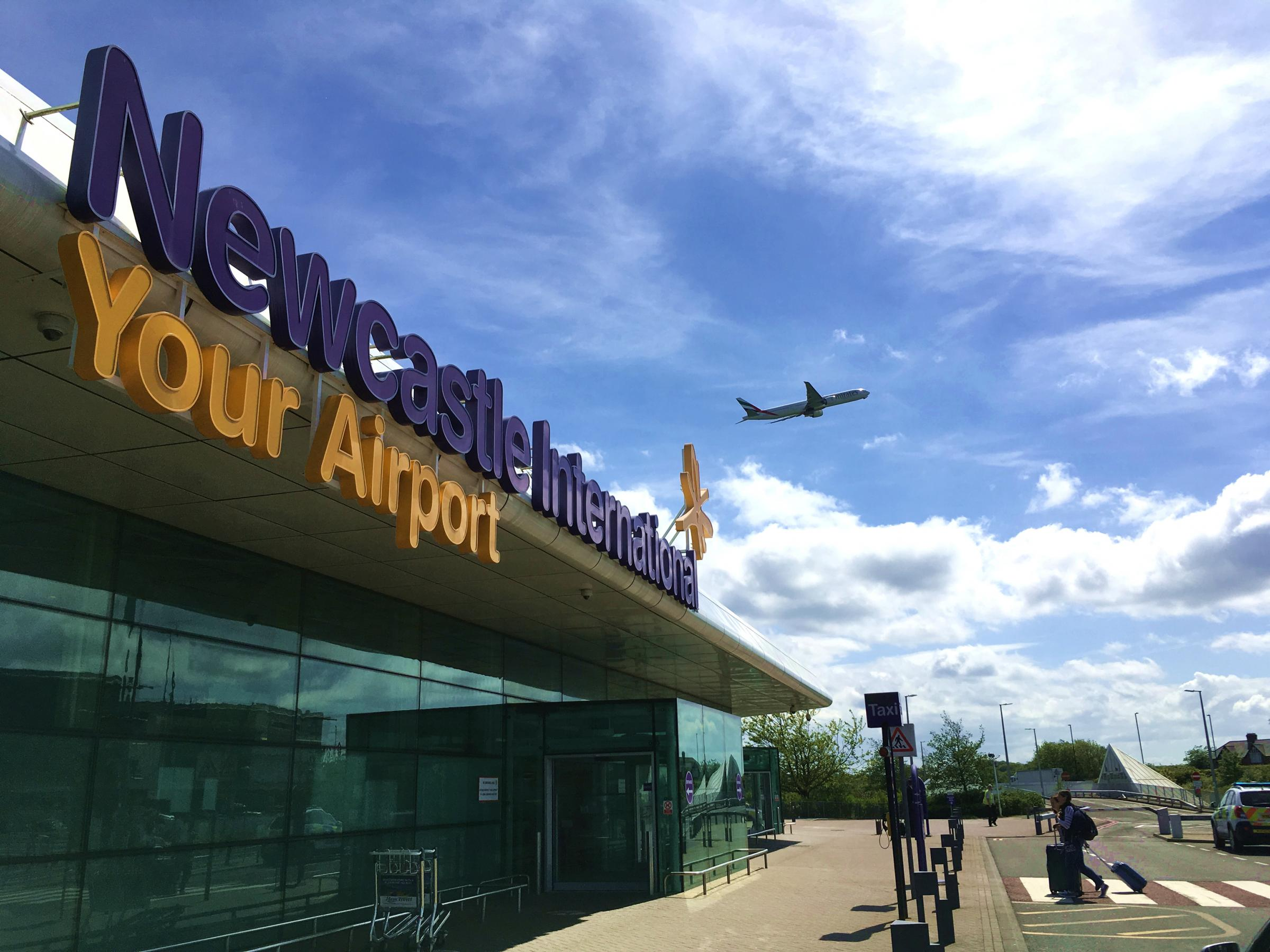 PLEA: A plane takes off over Newcastle Airport. The site's bosses have renewed calls for action on air passenger duty