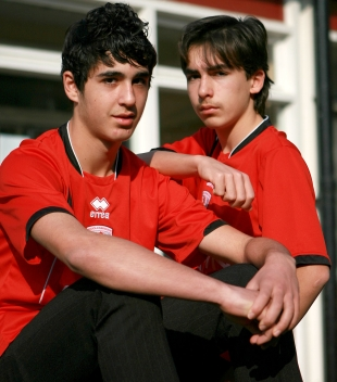 TWINS ON THE BALL: Dean Gardikiotis, left, and his brother, Alex