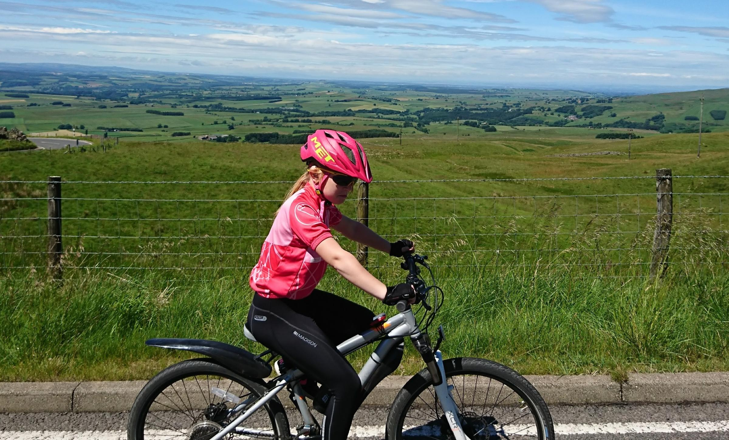 CHALLENGE: Millie Ottaway in training for the coast to coast ride