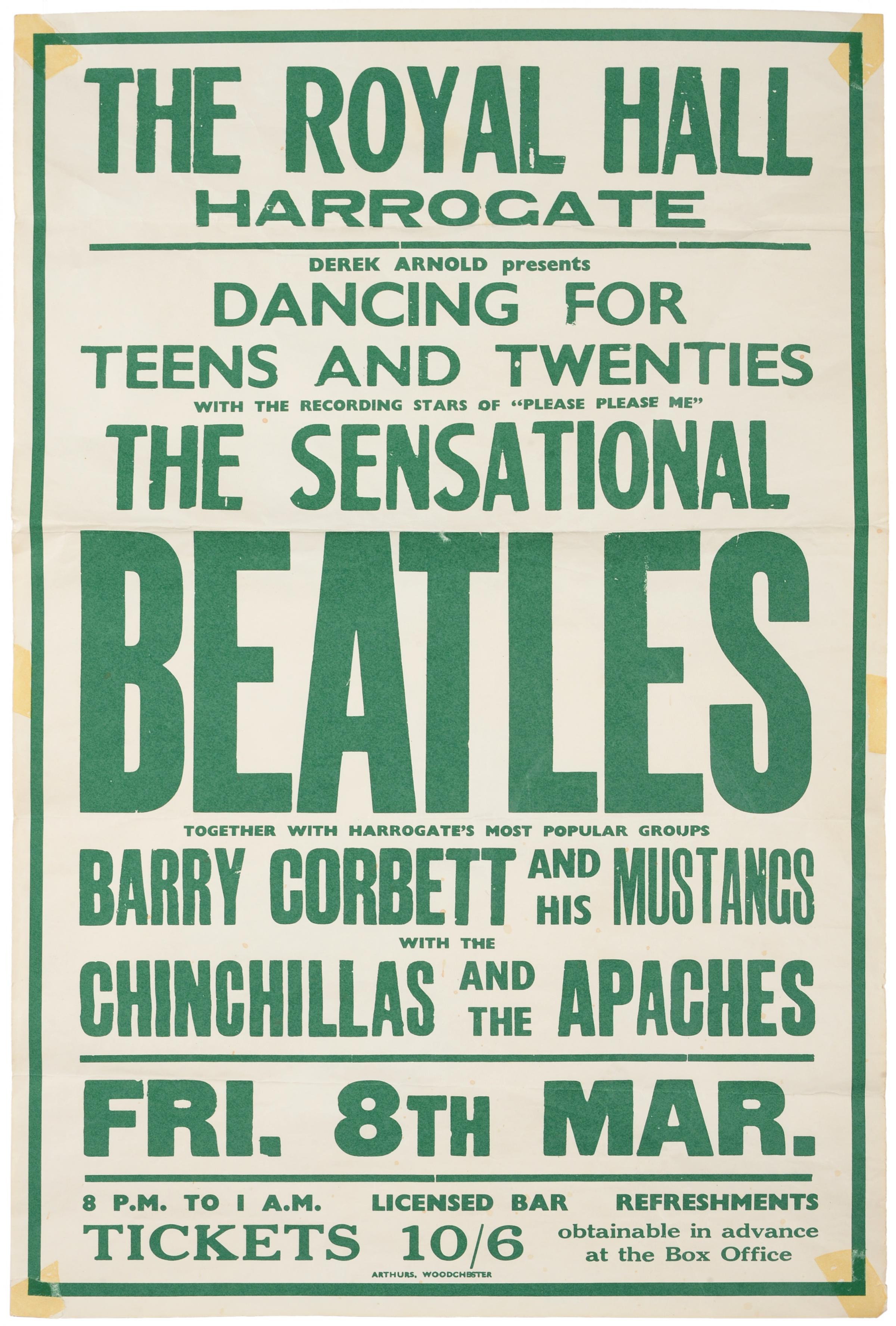 A RARE Poster Advertising Concert Staged By The Beatles In North Yorkshire Just As They Were Becoming Famous Has Attracted Remarkable Number Of
