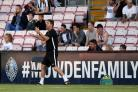 PROMOTION HOPES: Darlington manager Martin Gray during the pre-season friendly with Newcastle United under-23s at The Northern Echo Arena. Picture: CHRIS BOOTH
