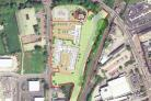 A masterplan drawing of the site layout for the proposed development in Northallerton