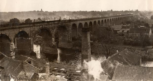 The Northern Echo: DOMINANT FEATURE: The 2,280ft (690 metre) railway viaduct was built between 1849 and 1851 for the Leeds Northern Railway Company. It required seven million bricks, and has 43 arches, with two stone arches spanning the Tees. This picture is undated, althou