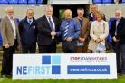 UNVEILING: Bishop Auckland FC and NEFirst Credit Union have teamed up for the new season