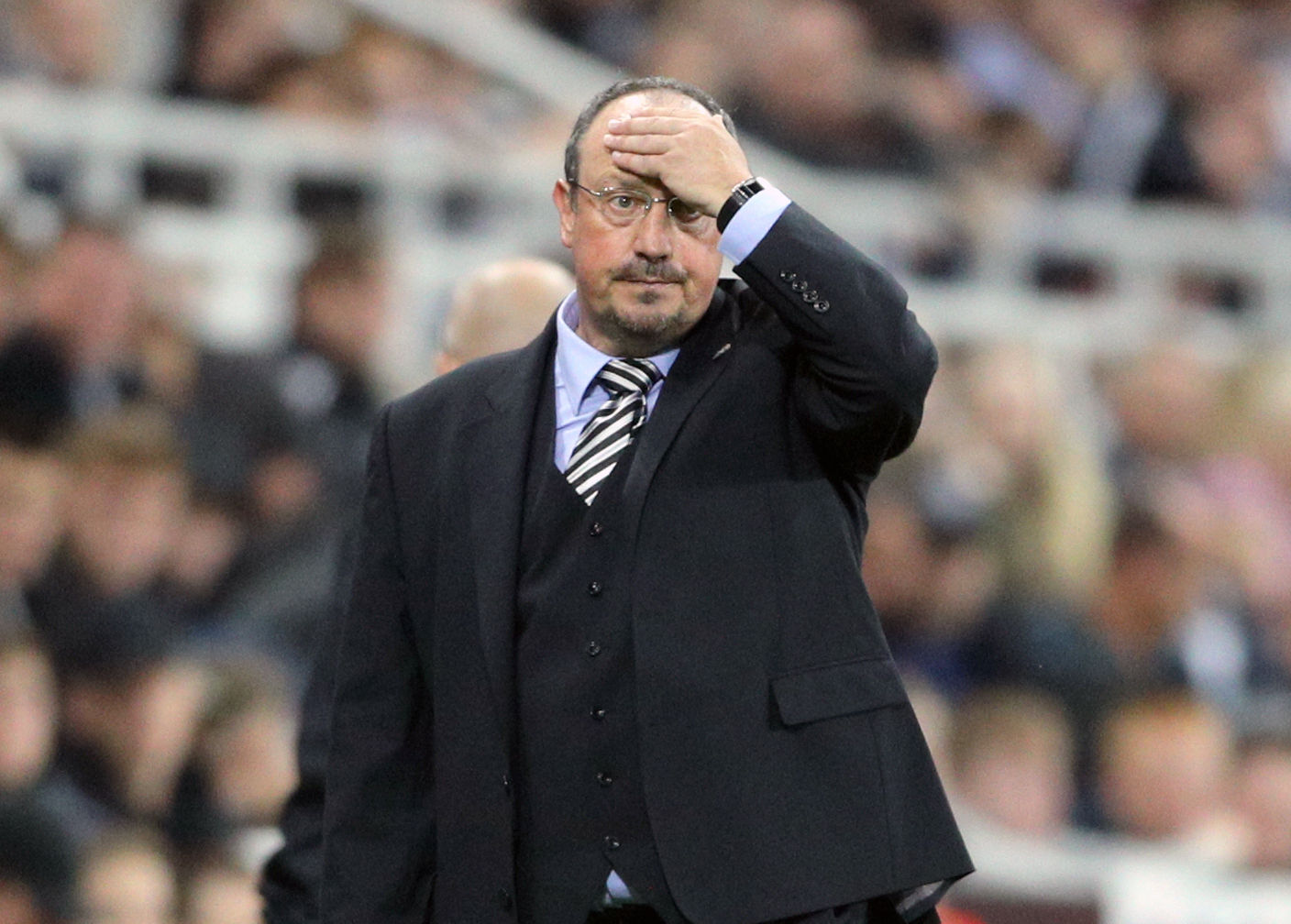 FRUSTRATED: Newcastle United manager Rafael Benitez