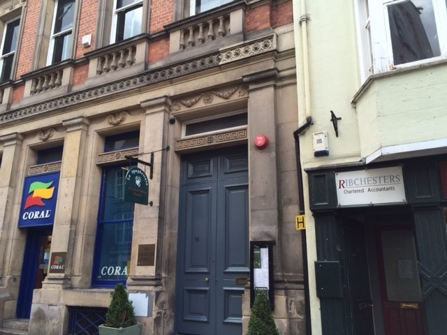 BUTT: Clash took place on second-floor smoking balcony at Fabio's, in Saddler Street, Durham