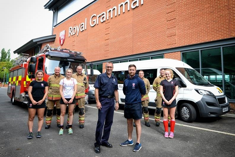 Firefighters from all over the world are in Newcastle this weekend for an annual sports competition