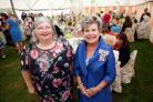 SURPRISE: Councillor Anita Savoury, left, with the Lord Lieutenant of Durham Sue Snowdon at the Ladies Lunch at Wolsingham Show Ground.PICTURE: Paul Norris
