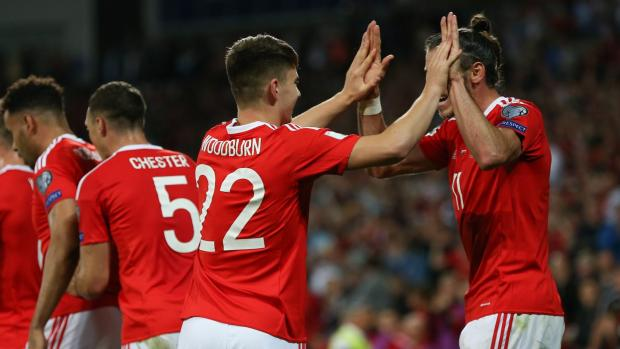 The Northern Echo: Ben Woodburn celebrates scoring on his Wales debut