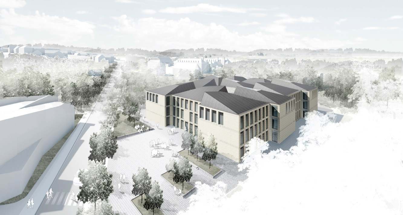 The proposed new building off South Road, Durham, which would include teaching facilities and host academic conferences