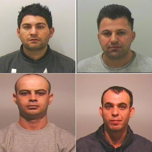 GUILTY: Clockwise from top left: Soran Azizi, Ribas Asad, Palla Pour and Saman Obaid
