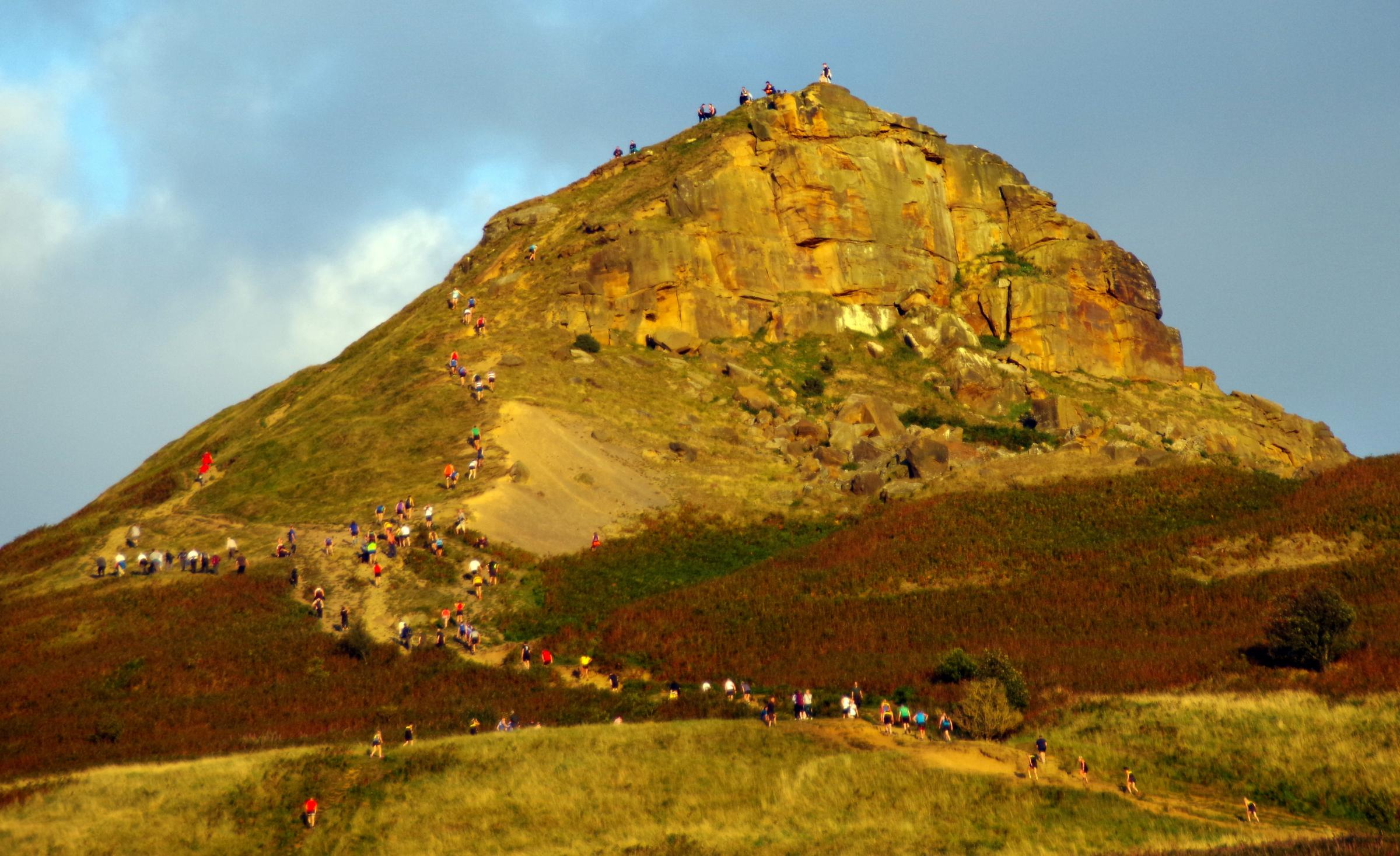 CLIMB: Cleveland Mountain Rescue Team were called to help a man who had suffered head injuries near the summit of Roseberry Topping