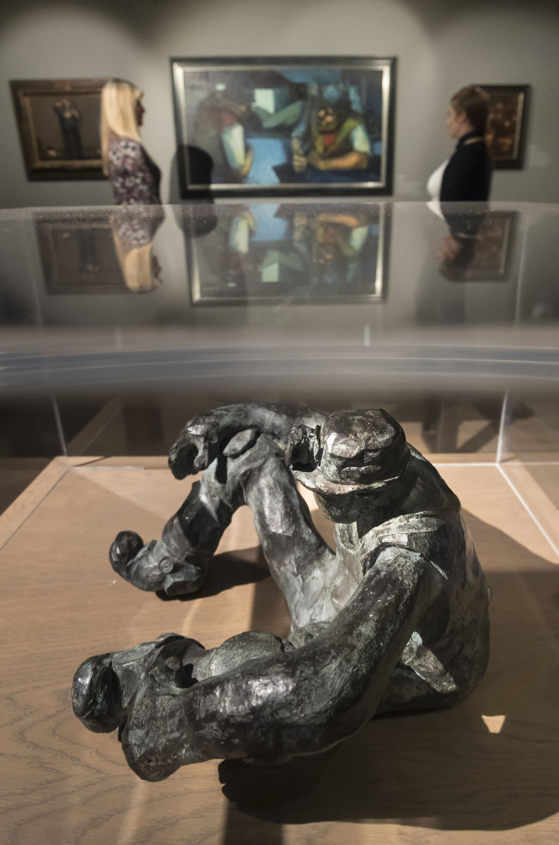 HISTORY: A bronze sculpture titled Miner by artist Alistair Brookes at the Mining Art Gallery Picture: DANNY LAWSON/PA WIRE