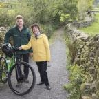 The Northern Echo: TRAIL: Councillor Yvonne Peacock with park ranger, Michael Briggs