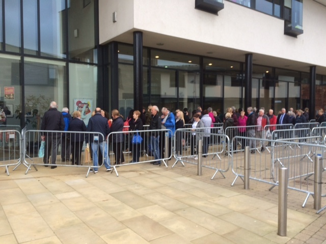 QUEUES: Tickets are now available for Lumiere in Durham. Picture: Bruce Unwin