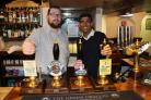 SURVEY: Rishi Sunak with Michael Hunt, landlord of The Green Dragon, Bedale
