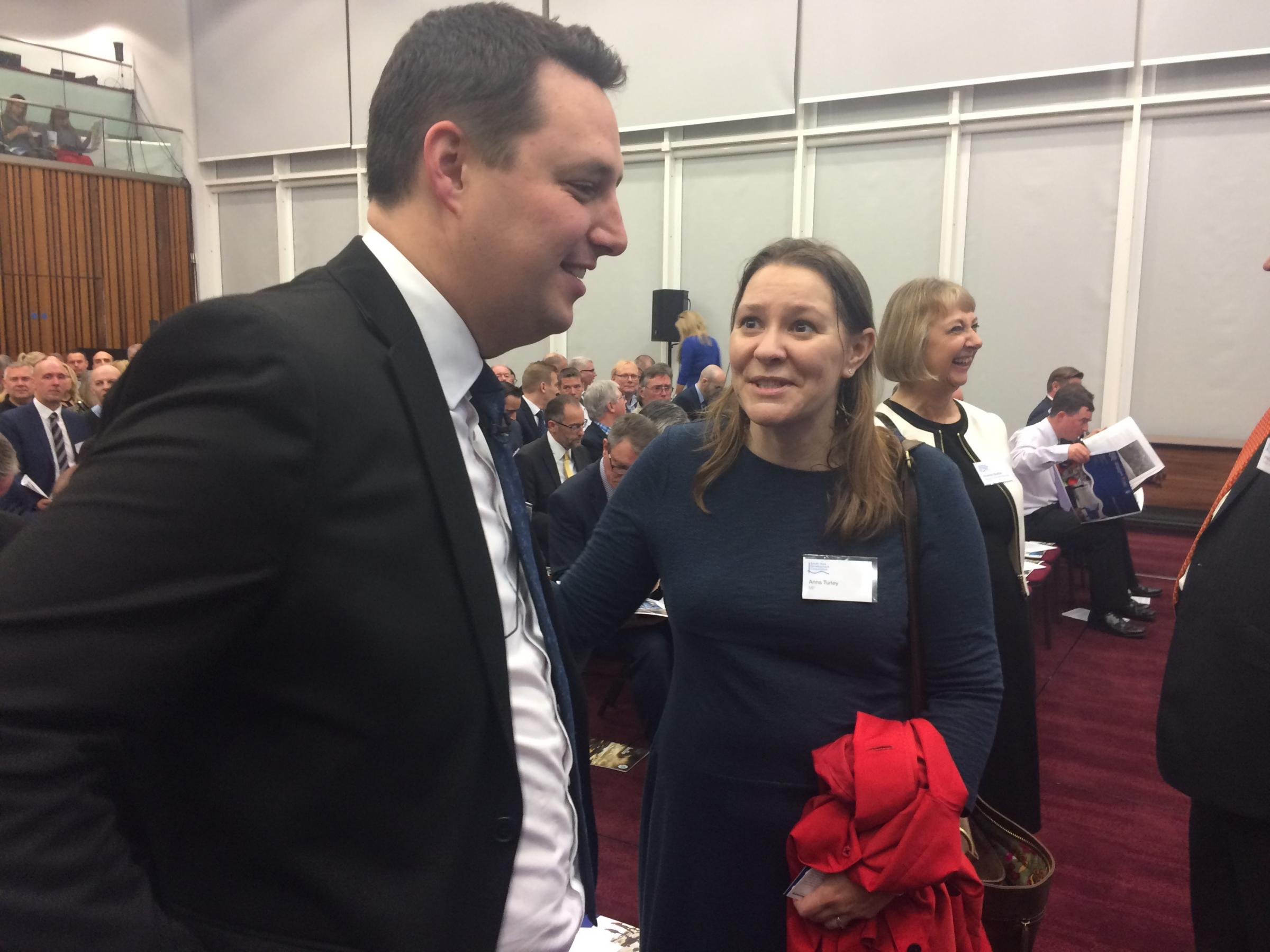 Ben Houchen and Anna Turley at Wednesday's launch Picture: Nick Gullon