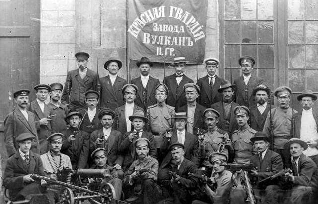 Red Guards at Vulkan factory in 1917