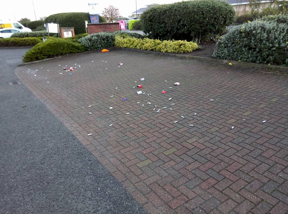 Anger as laughing gas canisters found near schools