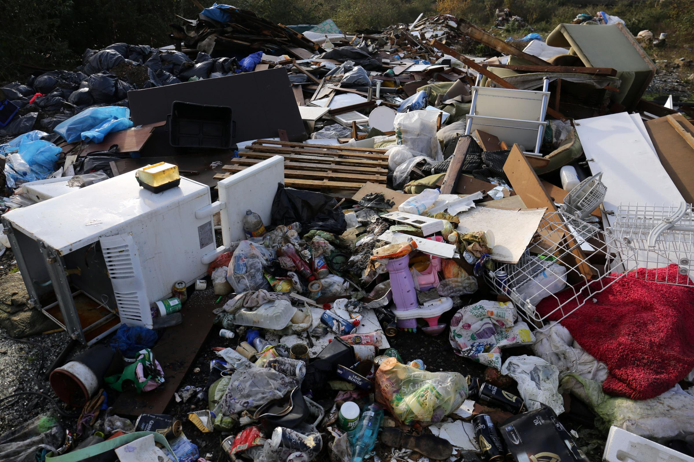 INCREASING: Fly-tipping is costing local authorities millions to clear away Picture: CHRIS RADBURN/PA WIRE