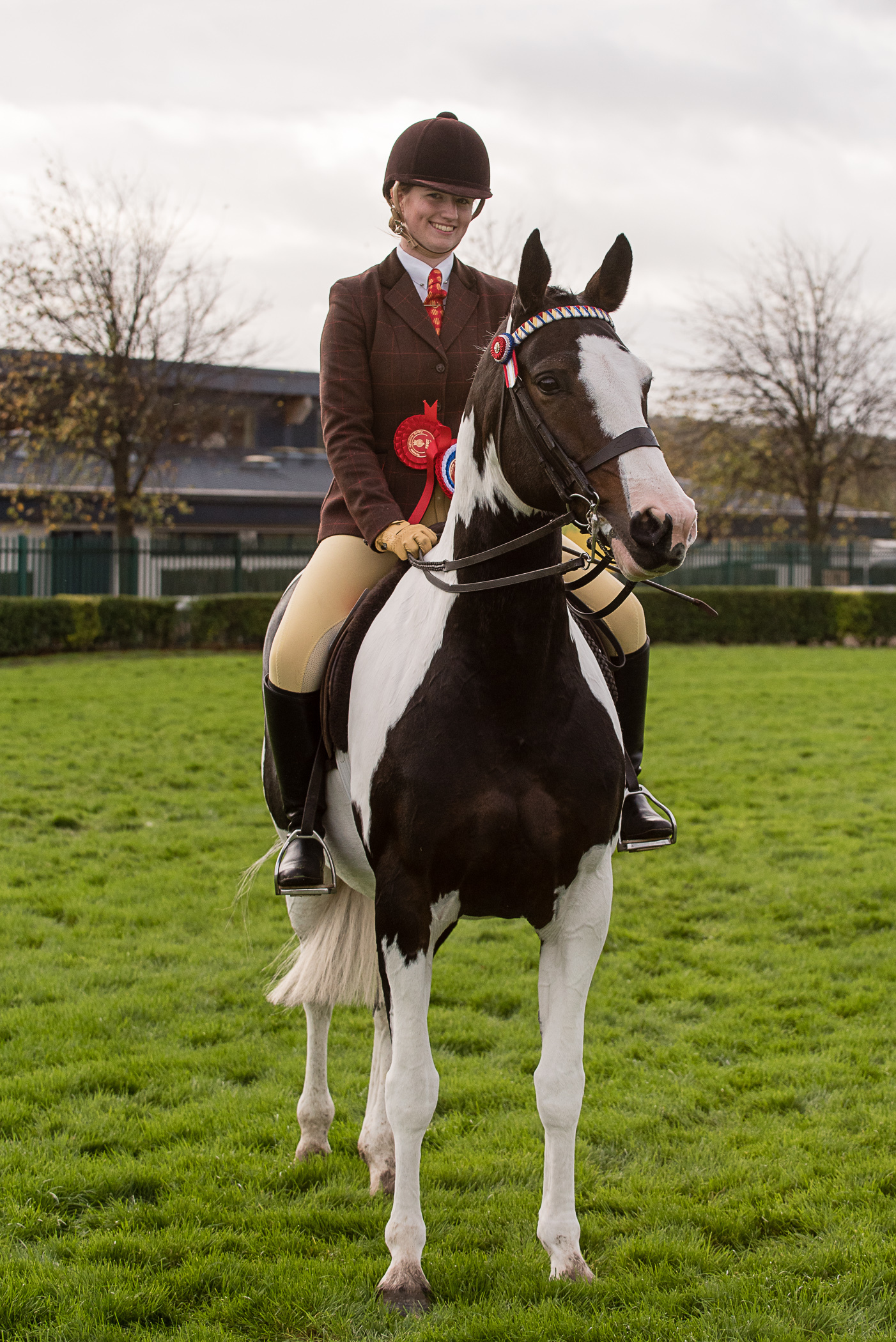 PROUD: Ridden Coloured Champion Charlotte Merrigan Martin  Photo: KATE MALLENDER - YORKSHIRE AGRICULTURAL SOCIETY