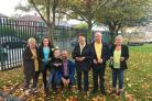 PLANT: Pupils and staff plant flowers in memory of Emma McDonald