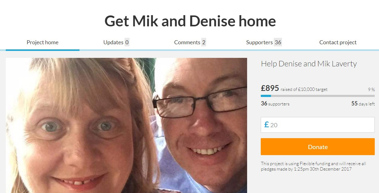 SUPPORT: Friends back home in the North-East want to help Mik and Denise Laverty, of Newton Aycliffe, after he was mugged on the first day of his birthday treat in Thailand