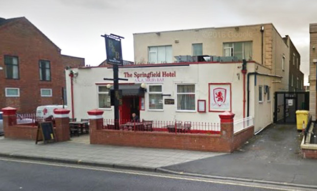 DISTURBANCE: The Springfield, on Borough Road, in Middlesbrough