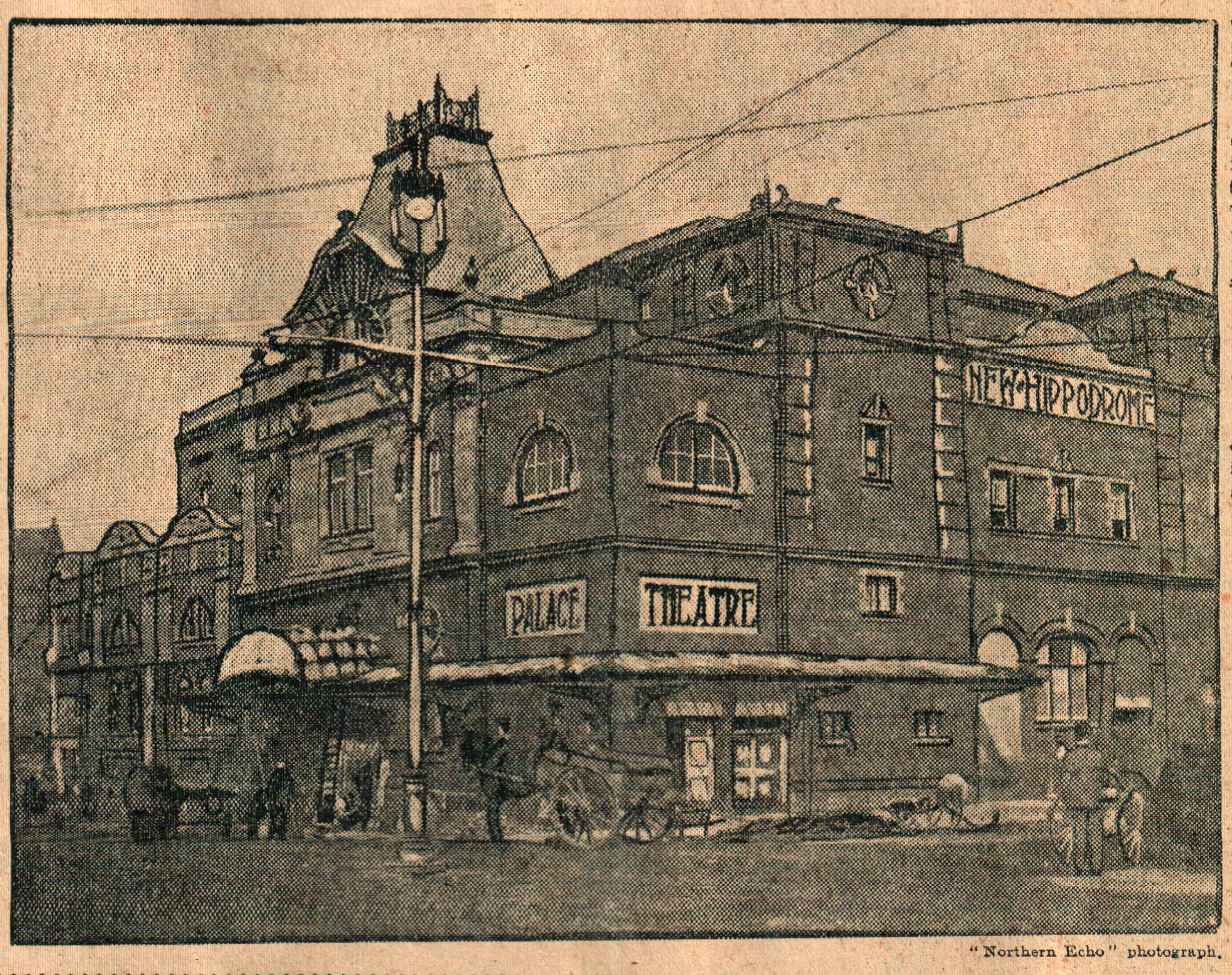 The finishing touches being applied to the Darlington Hippodrome in late August 1907