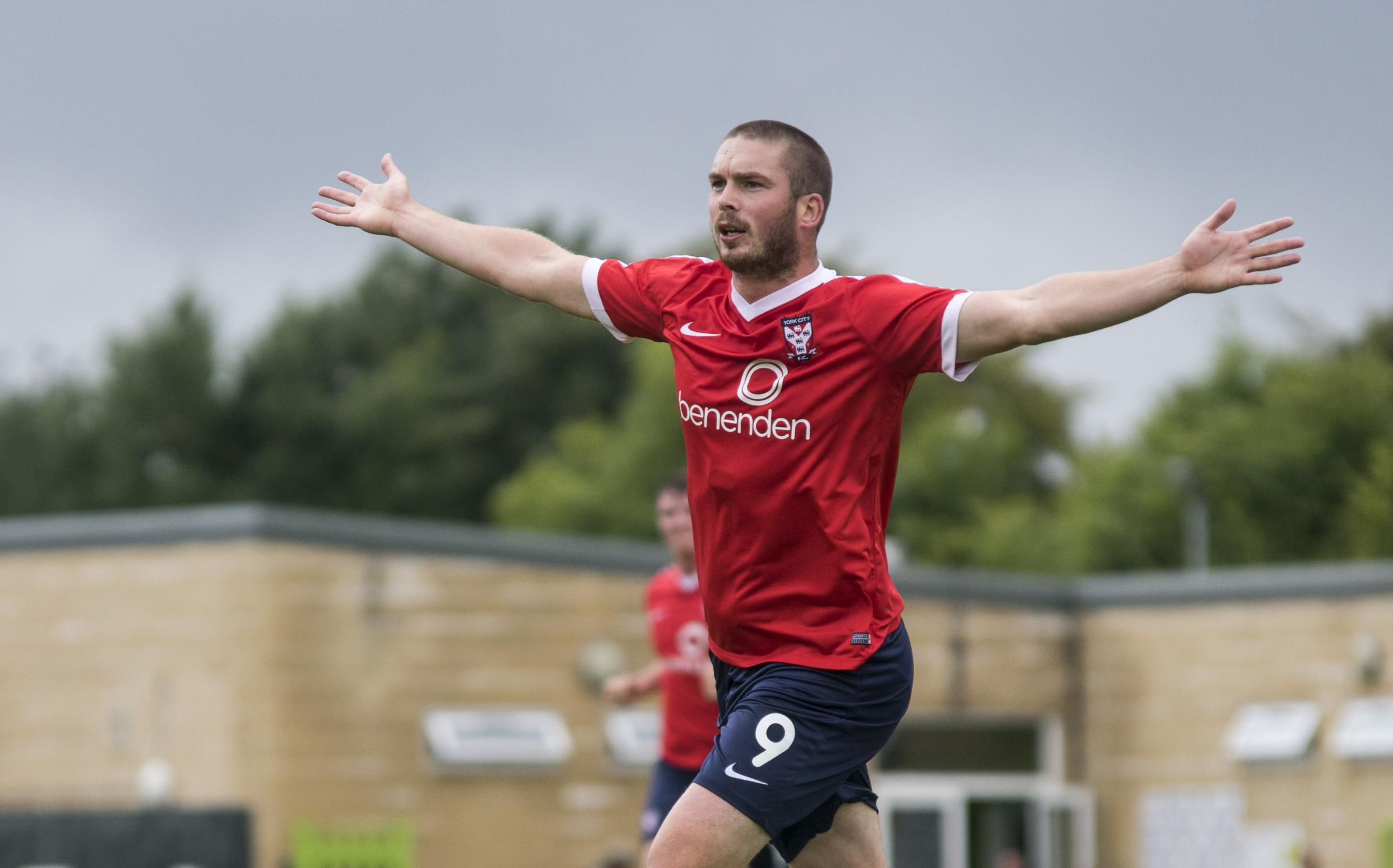 NO GO: Richard Brodie, pictured in his York City days, will not be signing for Darlington