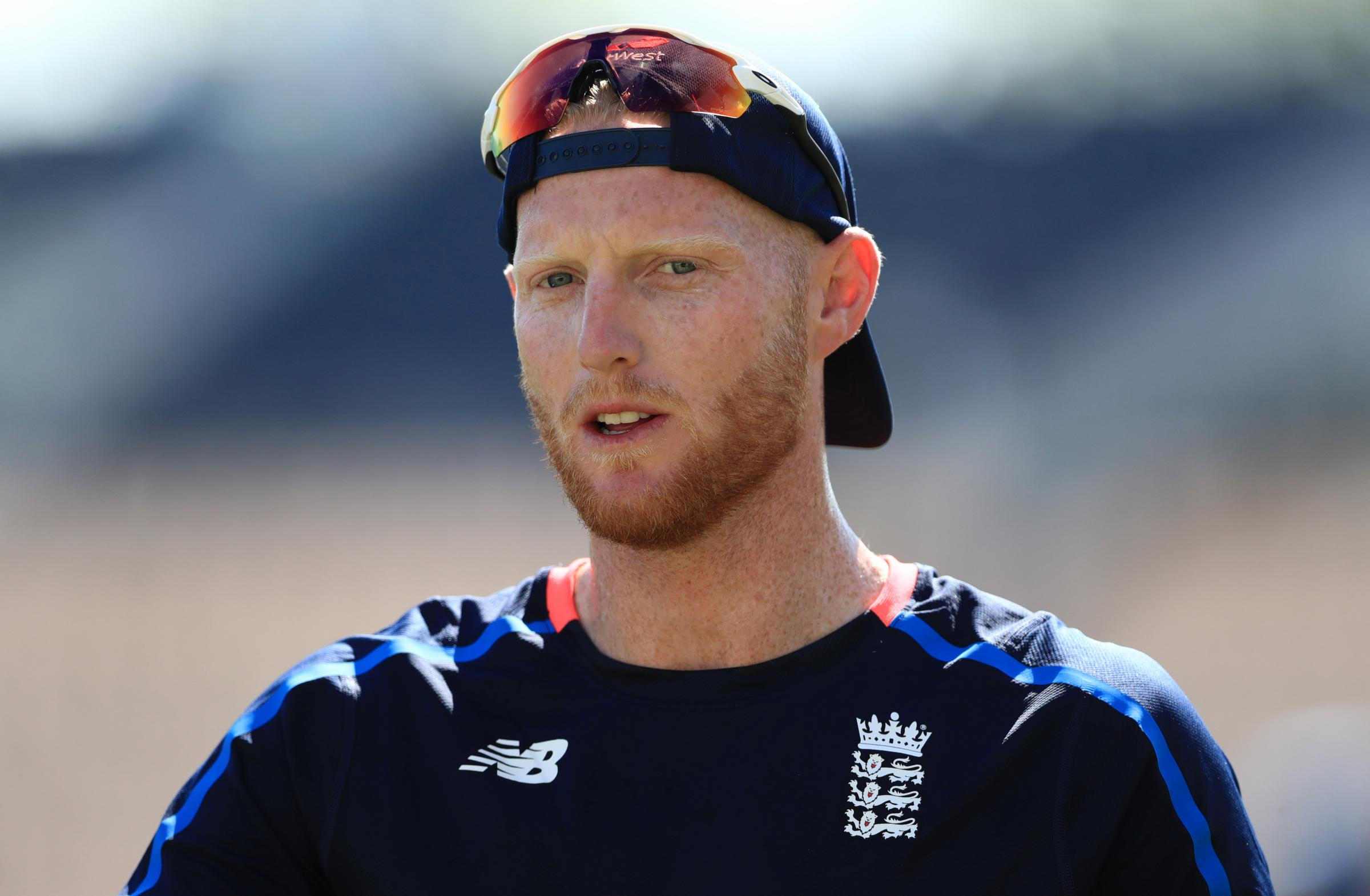 Ben Stokes, who is training at Durham as he awaits the conclusion of a police investigation