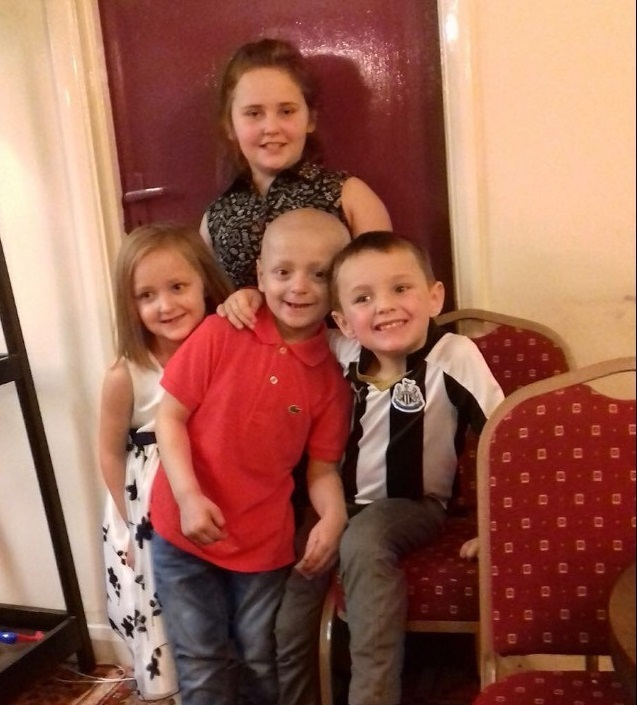 Bradley with his cousins. Lasey, Jorja, Bradley and Harley Jay