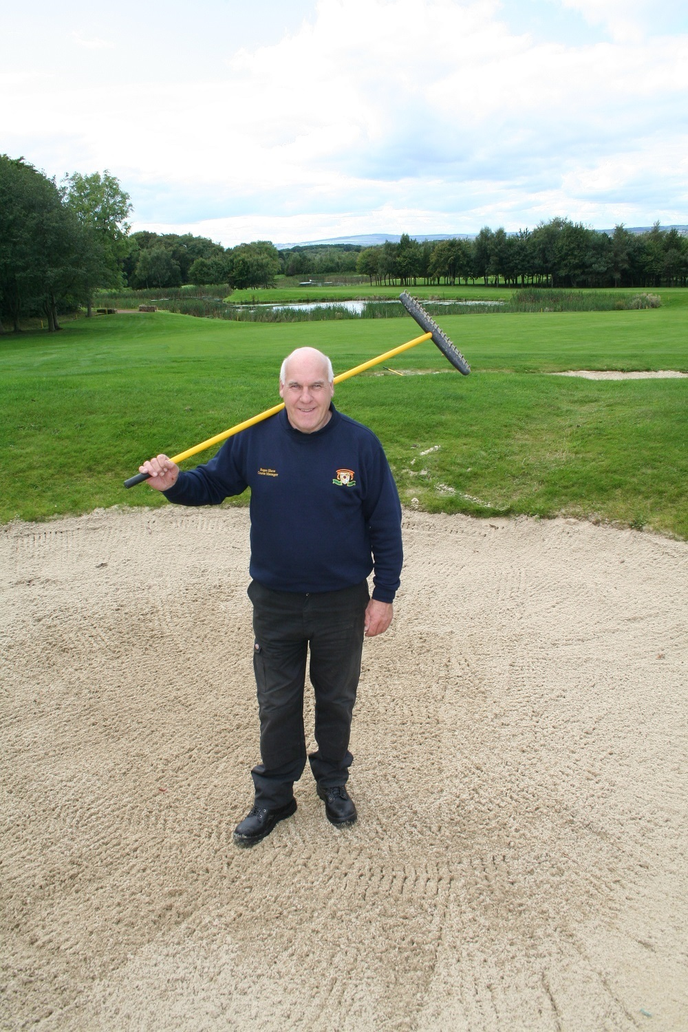 WORKER: Roger Shaw on the eighth hole on the Prince Bishops Course at Ramside Hall
