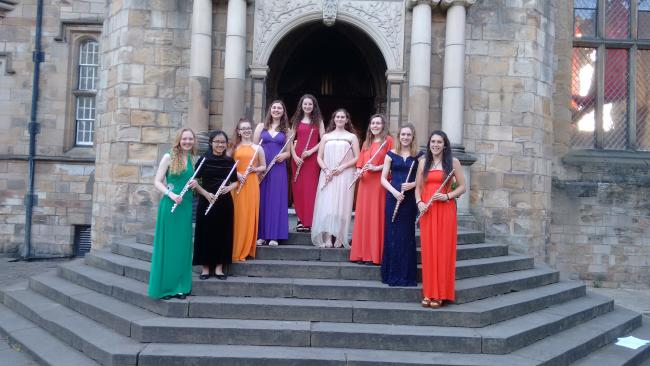 CHOIR: From left, Cara Wharton, Samantha Wong, Marcelina Trabszo, Anna Gorick, Kate Gilbert, Artemis Loucaidou, Selina Stoves, Lucy Cunningham and Isabel Mastrolonardo