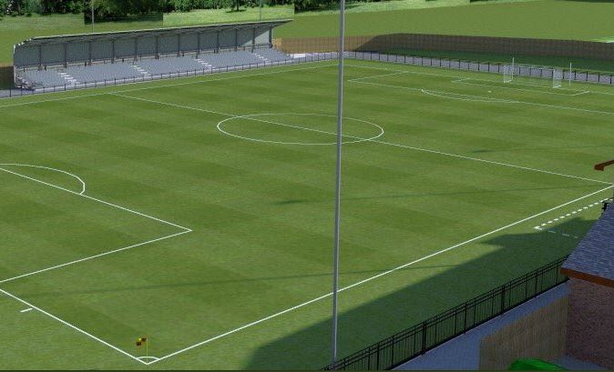 NEW LOOK: How the seated stand at Blackwell Meadows will look once completed