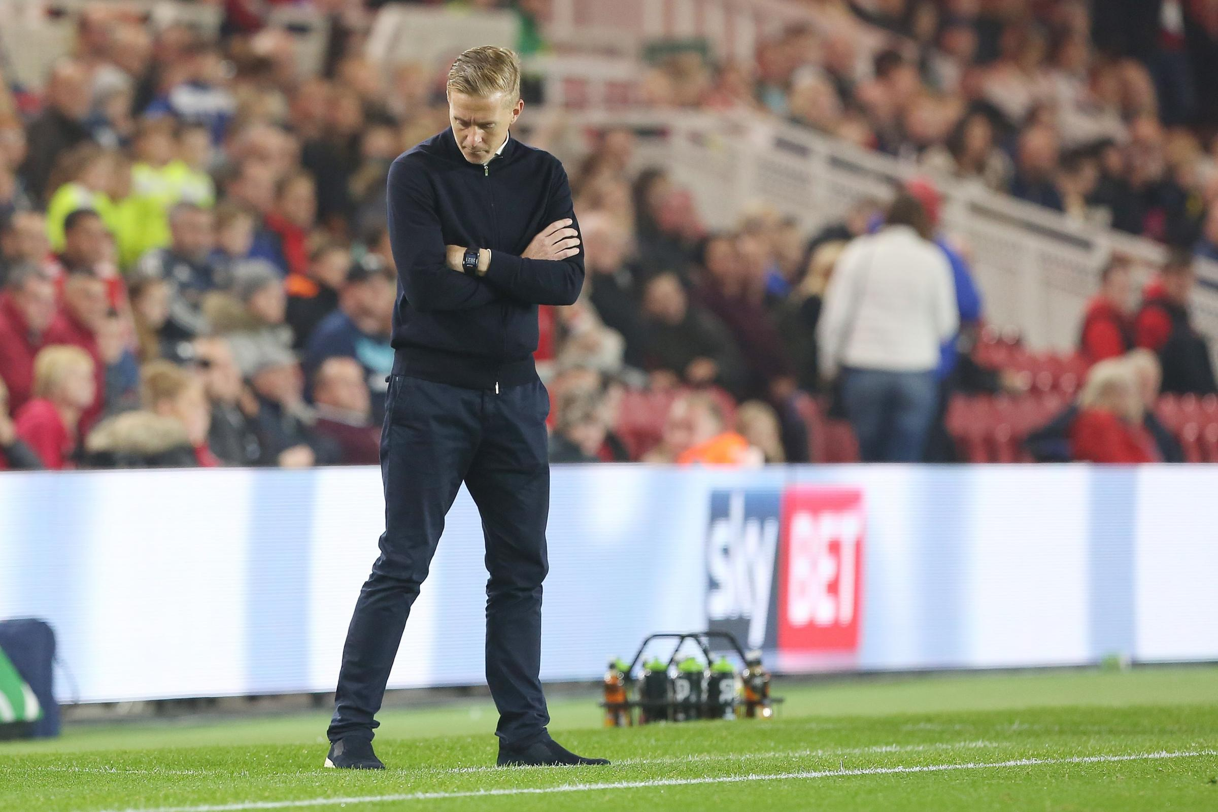 Middlesbrough manager Garry Monk has seen his side lose two successive games. Picture: MARK FLETCHER