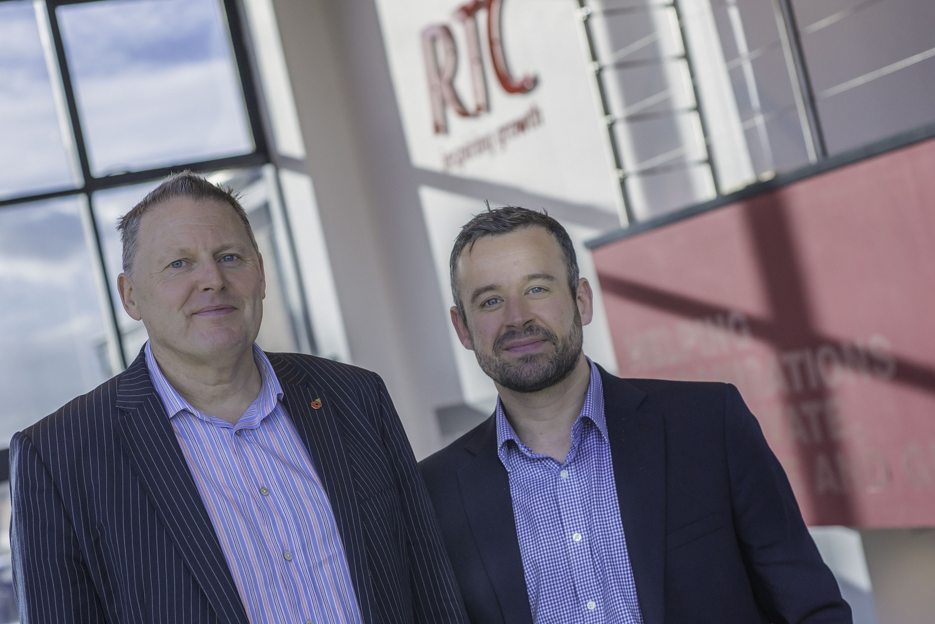 PLANS: Andrew Buckley, chief executive at RTC North, with Colin Bell, NElep business growth director