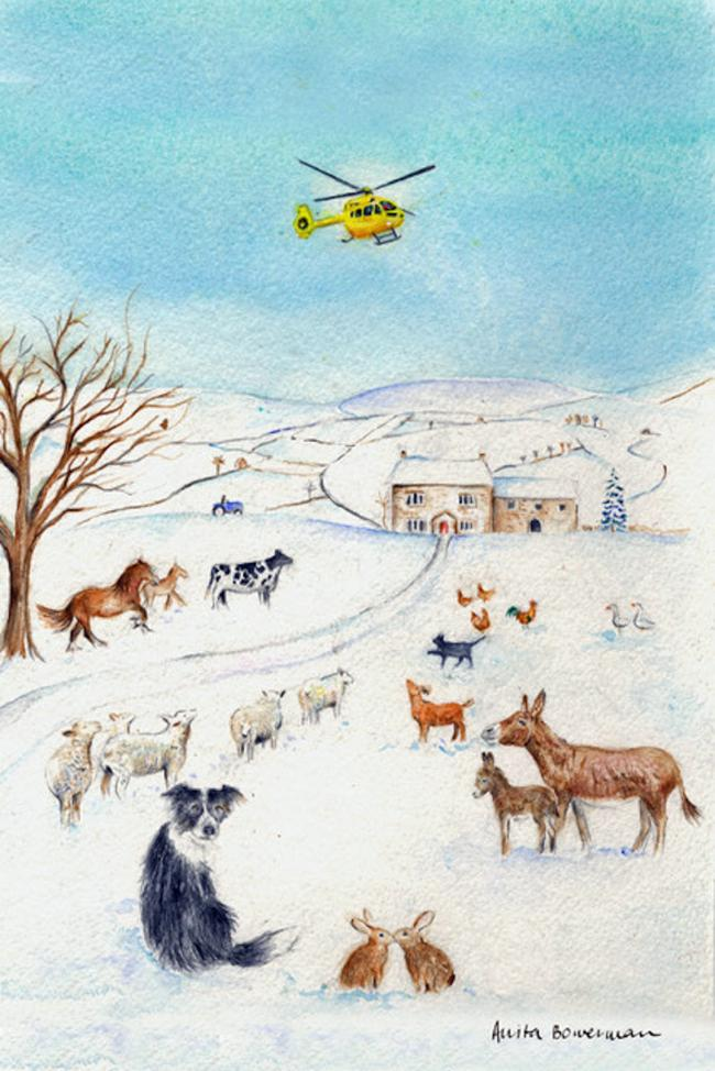 Harrogate-based artist launches charity Christmas card appeal | The ...