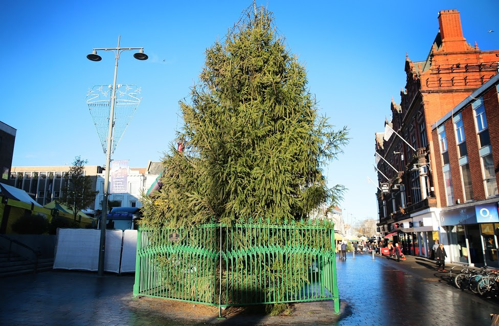 Darlington Christmas tree, which some residents have labelled 'embarrassing'. Picture: SARAH CALDECOTT