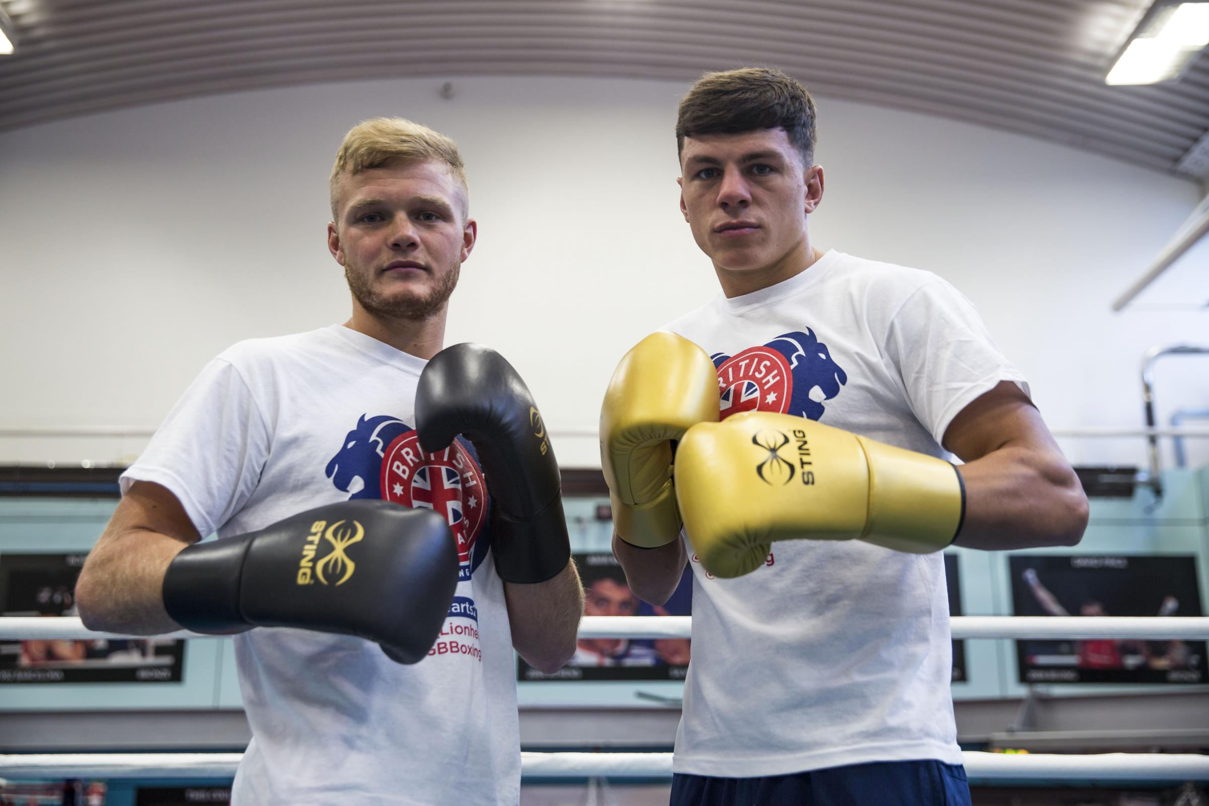 GLOVE AFFAIR: Calum French (left) and Pat McCormack (right) will be part of the British Lionhearts team that fights in Gateshead in February