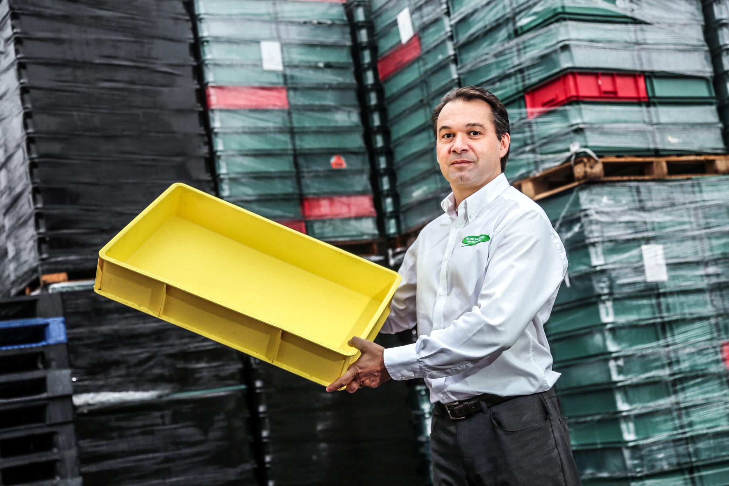 EXPANSION: Plastic Mouldings Northern sales director Freddy Bourdais says his firm now stocks more than 6,000 plastic pallets to serve a growing industry
