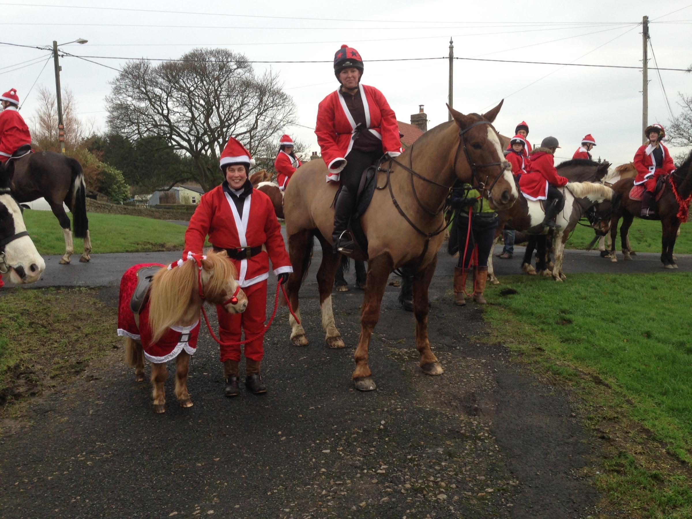 PARADE: The annual mounted Santa parade will take place in Hamsterley on December 23