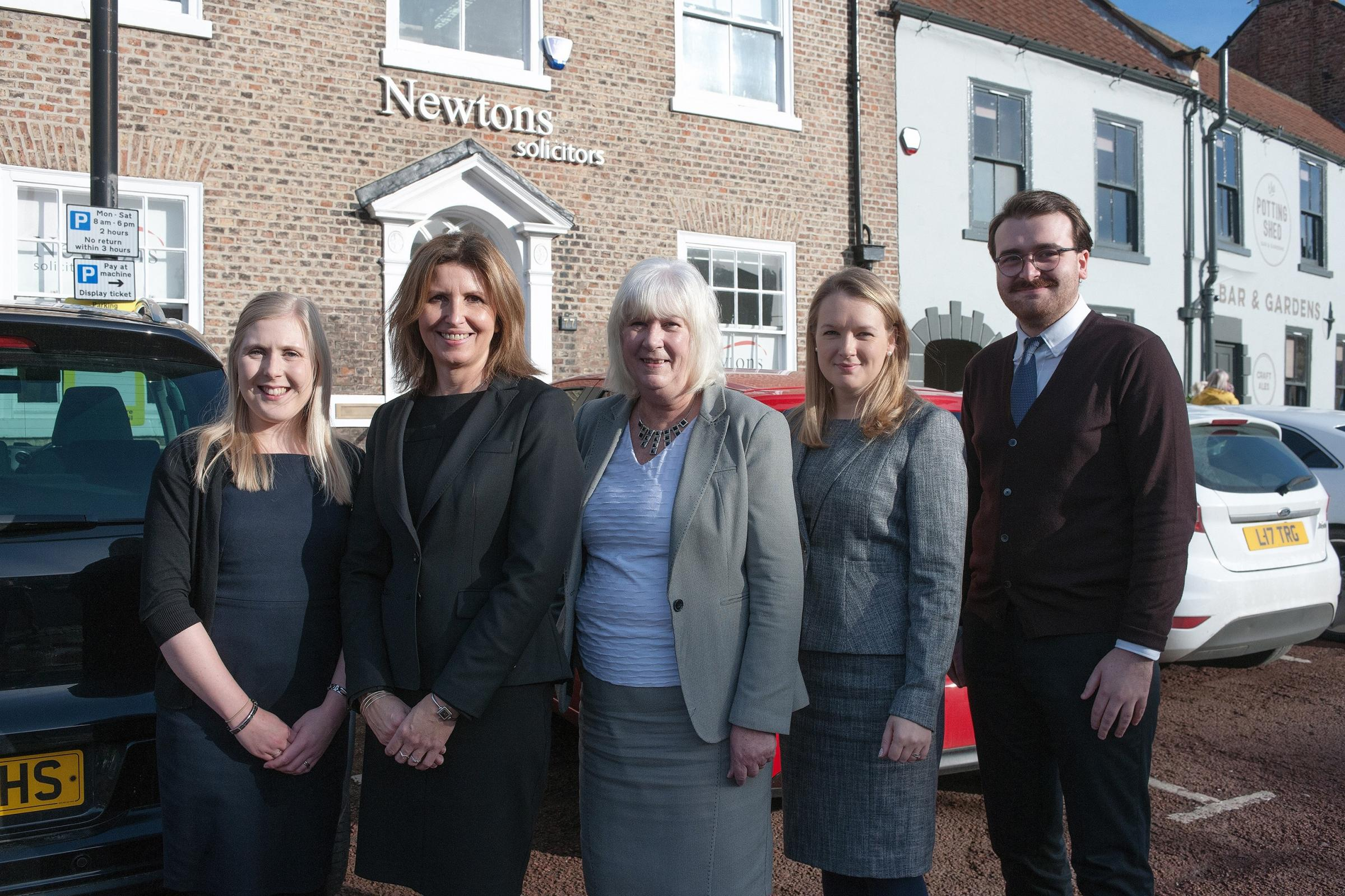 WELCOME: Katie Ward, far left, with Fran Maxwell, Dorothy Price, Elizabeth Whitaker and Jack Stainthorpe