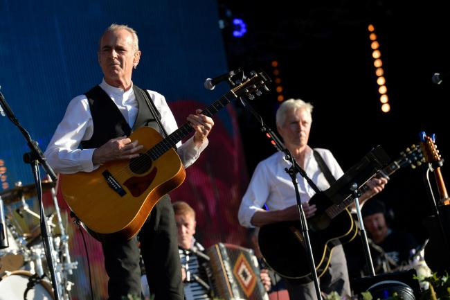Francis Rossi and Andrew Bown of Status Quo performing at Radio 2 Live in Hyde Park, in Hyde Park, London.  Picture: PA