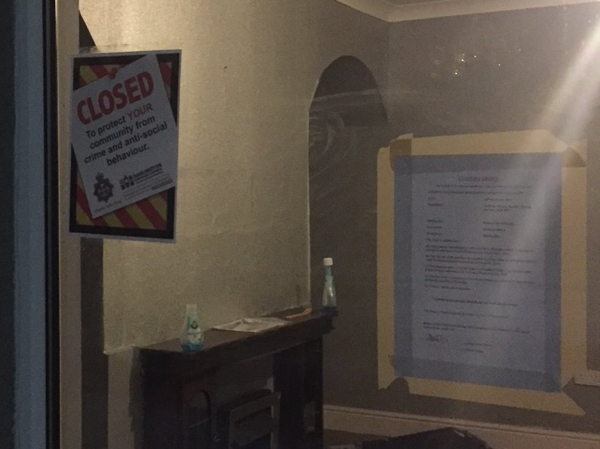 CLOSED: Police have been given a court order to close down the house in Ridley Street, Stanley